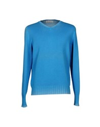 Alpha Massimo Rebecchi Knitwear Jumpers Men Sky Blue