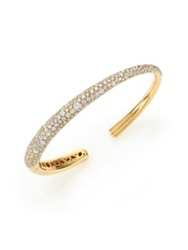Kwiat Cobblestone Diamond And 18K Yellow Gold Cuff Bracelet