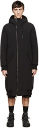 D.Gnak By Kang.D Black Hooded Coat