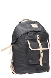 Men's Will Leather Goods Canvas Backpack Black