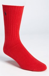 Men's Polo Ralph Lauren Crew Socks Red