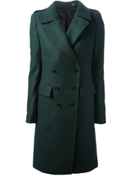 Blk Dnm Double Breasted Coat Green