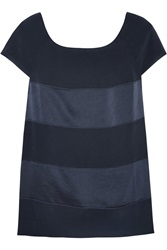 Sonia Rykiel Striped Satin And Jersey Top