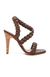 Ulla Johnson Leather Sima Braided Heels In Brown