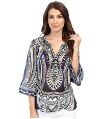 Hale Bob The Bold And The Beautiful Silk Blouse Black Women's Blouse