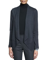 Eileen Fisher Mini Check Shaped Jacket Women's Charcoal