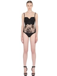 Christies Lace And Stretch Satin Bodysuit