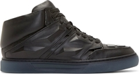 Alejandro Ingelmo Black Leather Exotron Sneakers