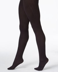 Hue Control Top Cable Tights Black