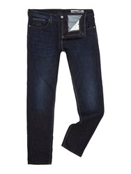 Duck And Cover Men's Boxren Tapered Jeans Blue