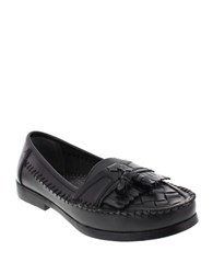 Deer Stags Herman Tassle Loafers Black