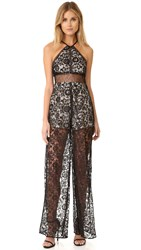 Kendall Kylie Lace Sleeveless Jumpsuit Black