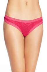 Women's Kensie 'Mattie' Lace Thong Blush