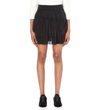 Claudie Pierlot Shell Tiered Skirt Noir