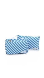 Flight 001 Toiletry Spacepak Stripe Ocean