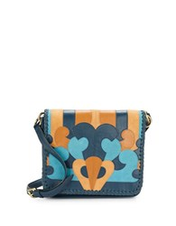 Nanette Lepore Echo Suede And Leather Crossbody Denim