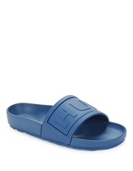 Hunter Slide Sandals Tarp Blue