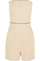 Tamara Mellon Cotton Blend Canvas Playsuit