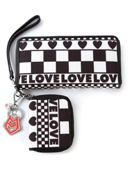 Love Moschino Mix Pattern Wallet Black