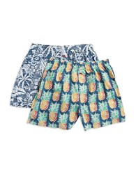 Tommy Bahama 2 Piece Tropical Boxer Set Coconut Cream