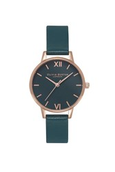 Topshop Olivia Burton Midi Dial Green And Rose Gold Watch