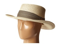 Tommy Bahama Palm Fiber Gambler With 3 Pleat Cotton Band Taupe Caps