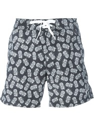 Woolrich Pineapple Print Swim Shorts Blue