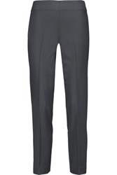 Brunello Cucinelli Stretch Wool Slim Leg Pants Dark Gray