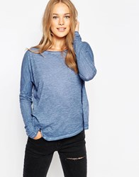 Twisted Muse Long Sleeve Loose Fit Top Blue
