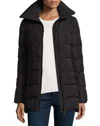 Moncler Petrea Quilted Puffer Coat Black