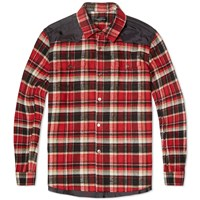 Undercover Tartan Flannel Overshirt Red Check