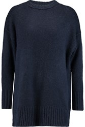 Nlst Stretch Knit Sweater Midnight Blue