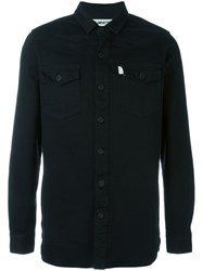 Off White Chest Pocket Shirt Black