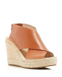 Kenneth Cole Ona Wedge Espadrille Sandals Tan