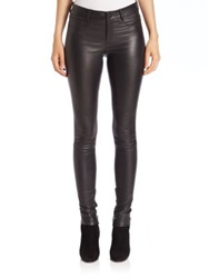 Set Skinny Leather Pants Dark Blue Black