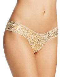 Hanky Panky Golden Leopard Low Rise Thong 4F1586 Sand
