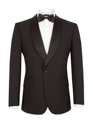 Pierre Cardin Plain Notch Collar Classic Fit Jacket Black