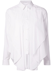 Viktor And Rolf Asymmetrical Frill Shirt White