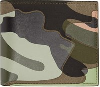 Valentino Camo Leather Bifold Wallet