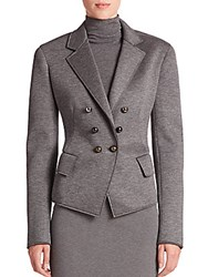 Donna Karan Double Breasted Jersey Jacket Flannel Grey