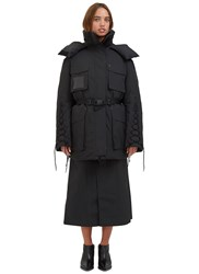Yang Li Oversized Ktc Padded Snow Parka Coat Black