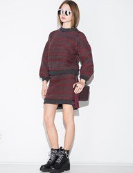 Pixie Market Red Cable Knit Mini Skirt