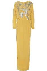 By Malene Birger Lidania Sequin Embellished Silk Satin Gown