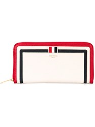 Thom Browne Panelled Wallet White