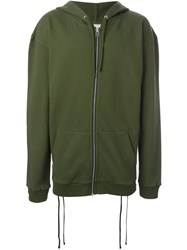Faith Connexion Lace Up Side Hoodie Green