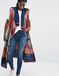 Vero Moda Draped Waistcoat With Oversized Stripes Multi