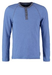 Tom Tailor Fitted Long Sleeved Top Midsummer Blue