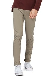 Topman Men's Stretch Skinny Fit Chinos Olive