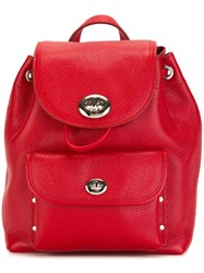 Coach Small Flap Opening Backpack Red
