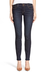 'Abs Solution And Booty Lift' Stretch Skinny Jeans Indigo Blue